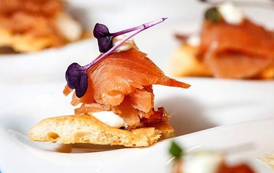 Hors d'oeuvre with salmon